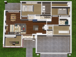 Interior floor plan layout of the Broncho House